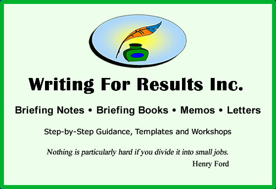 briefing notes and briefing books