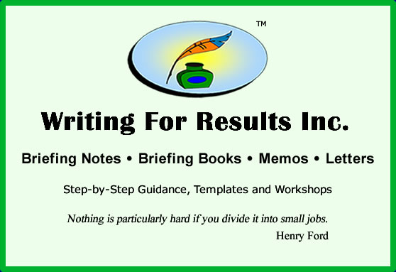 briefing notes briefing books guidance templates training